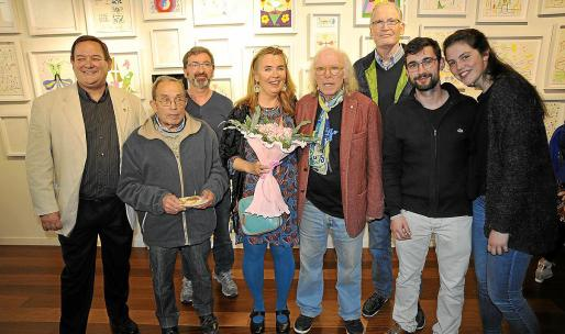 Pere Cortada, Pere Orpí, Pep Navarro, Bettina Neumann, Gustavo, Hans Eketorp, Emilio Navarro y Neus Guardiola.