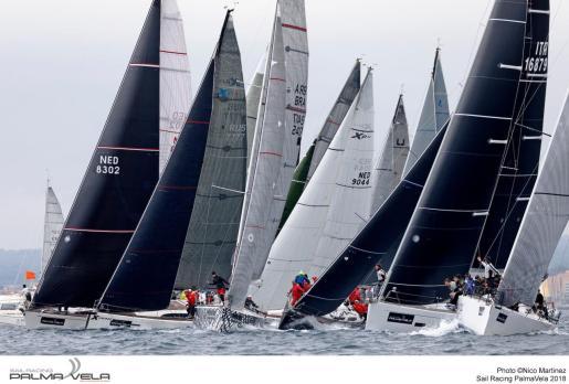 Imagen de un momento de la competición de la Sail Racing PalmaVela en su edición de 2018.