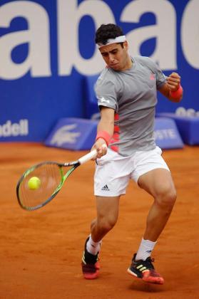 Imagen de Jaume Munar durante su partido de primera ronda en el Conde de Godó.