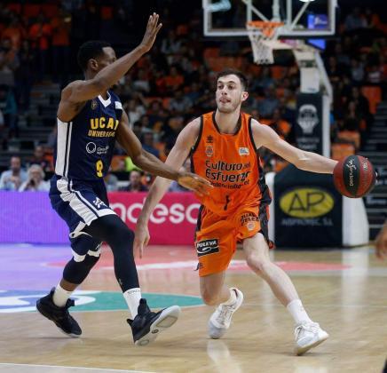 El mallorquín Sergi García, durante un partido con el Valencia Basket.