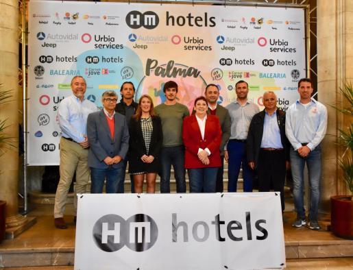 Imagen de la presentación del torneo HM Palma Beach Games celebrada este martes en el Ajuntament de Palma.