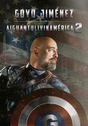 Cartel del espectáculo de humor de Goyo Jiménez 'Aiguantoliveinamerica'.
