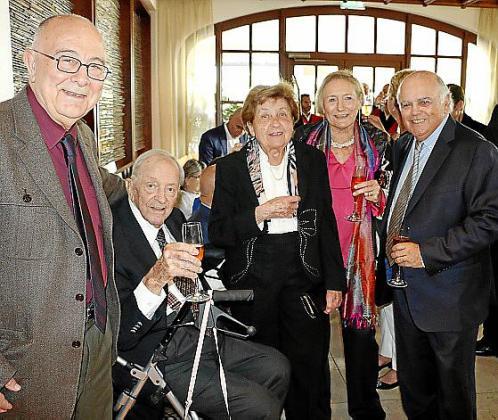 Tomeu Català, Josef Egger, Margalida Magraner, Concha Monjo y Miquel Àngel Borràs.