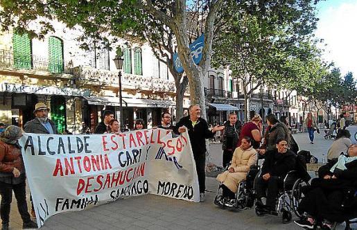 Los concentrados desplegaron pancartas en Llucmajor.
