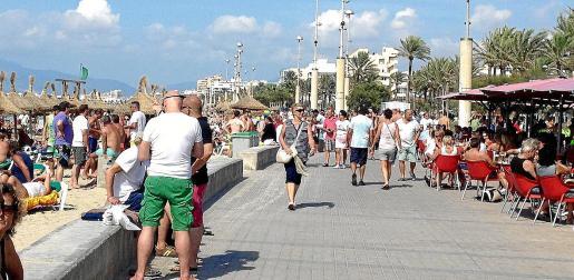 La planta hotelera ubicada en la bahía de Palma será la gran perjudicada por el descenso del turismo germano.