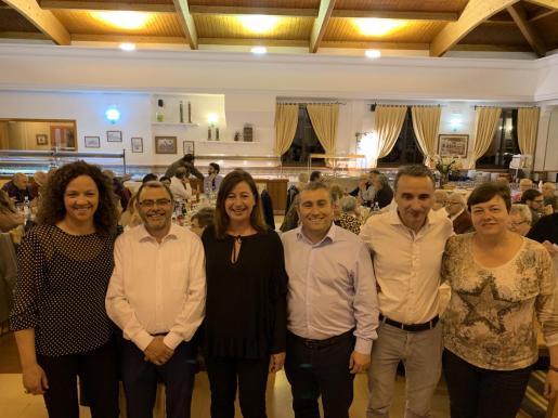 Francina Armengol y otros candidatos del PSIB-PSOE en un acto de campaña celebrado en Inca.