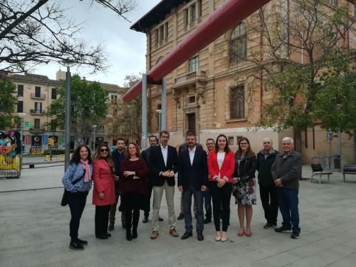Candidatos de Ciudadanos en un acto electoral para dar a conocer sus propuestas sobre educación,