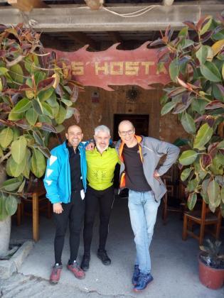 Joan Lliteras, Guillem Femenías y Pedro Noguera, tres de los ciclistas participantes.