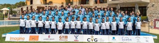 Imagen de los gimnastas del Club Xelska para la temporada 2019.