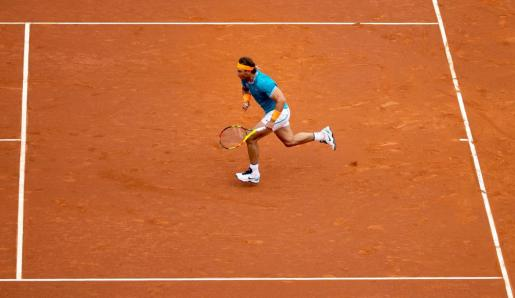 El tenista español Rafael Nadal durante el inicio del partido contra Ferrer.