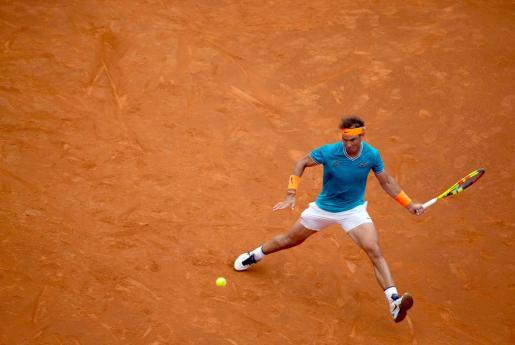 Rafael Nadal durante el partido de tercera ronda del Open Barcelona Banc Sabadell que ha disputado contra David Ferrer.