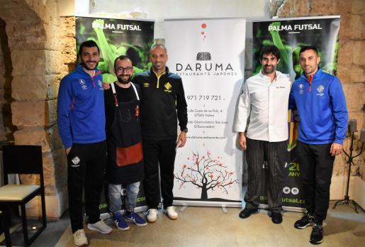 El técnico Antonio Vadillo realizó la rueda de prensa previa a la última jornada en las instalaciones del restaurante El Txoko de Santa Eulàlia que se incorpora a la nómina de colaboradores del Palma Futsal.