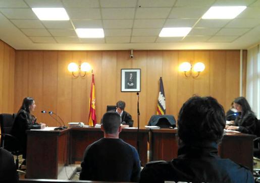 El acusado, este jueves durante la prueba anticipada en un juzgado de Palma.