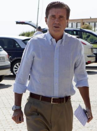 El expresidente del Gobierno Balear, Jaume Matas, a su llegada a la rueda de prensa en el año 2013.