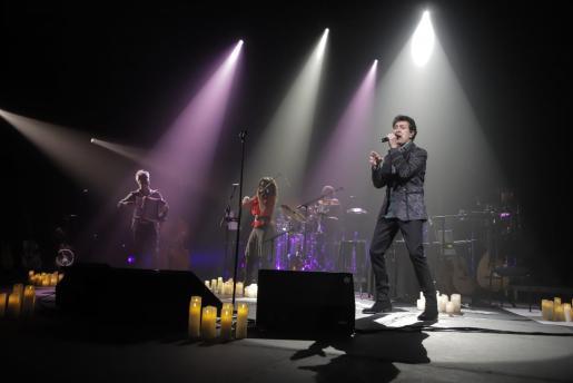Manolo García durante su concierto en Palma.
