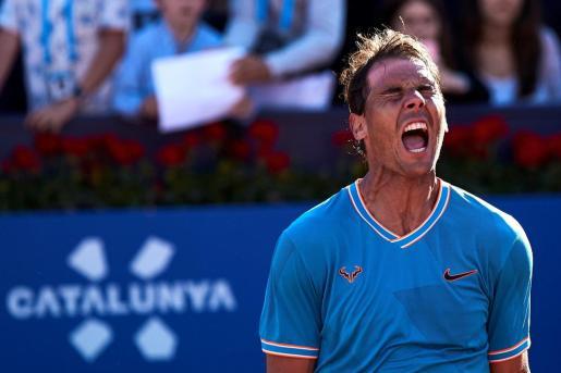 Rafael Nadal, durante su partido ante Thiem.