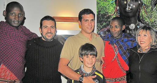 Tipira, Jorge Serrano, Jose Serrano con Pep Estrany, Ndorko y Vicky Olivares.