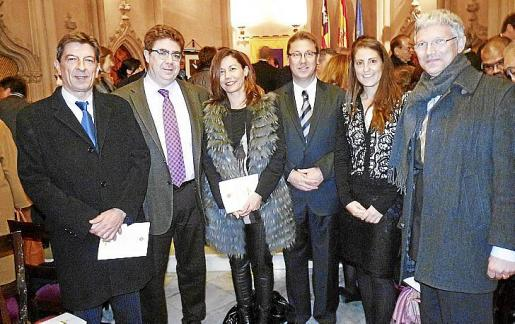 Antoni Real, Antoni Bennássar, Carmen Lliteras, Federico Sbert, Rosa Llobera y Ramón García.