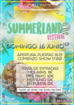 Cartel del Summerland Festival 2019.