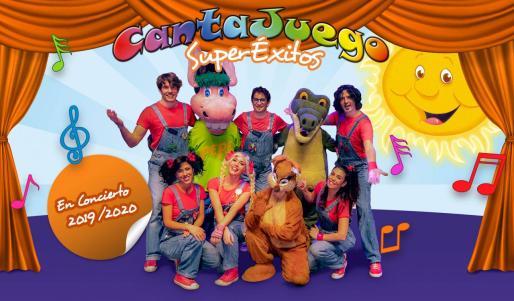 Los miembros del espectáculo que ofrece CantaJuego.