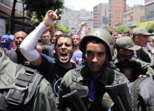 Protestas en Caracas contra Nicolás Maduro