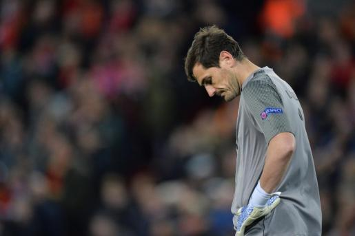 El portero de Oporto Iker Casillas durante un partido.