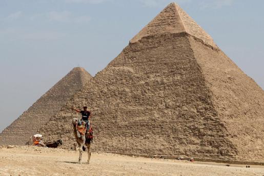 Vista de las pirámides.