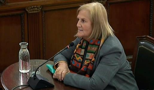 Núria de Gispert, en una imagen de archivo declarando este miércoles como testigo en el juicio del procés.