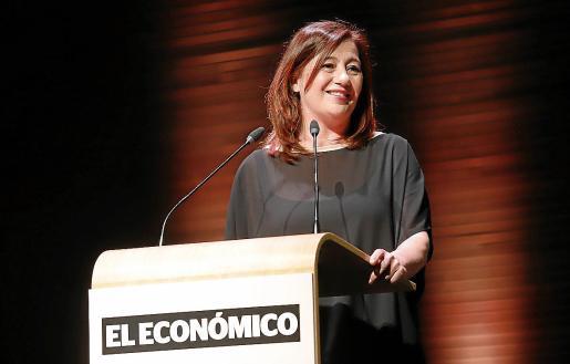 Francina Armengol, durante su discurso en el III Foro El Económico,