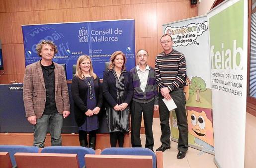 Joan Ferrer, Magela Sosa, Teresa Martorell, Manuel Gordo y Joan Escandell.