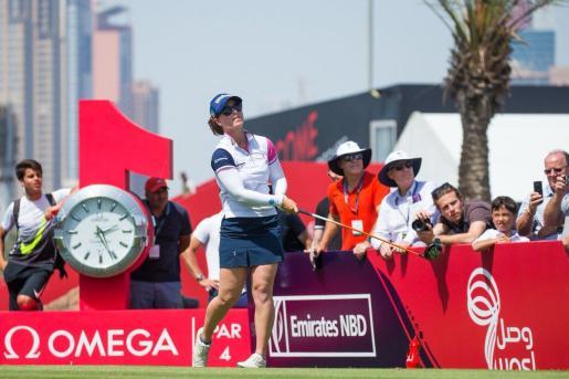 Imagen de la mallorquina Nuria Iturrioz, en acción en Dubai.