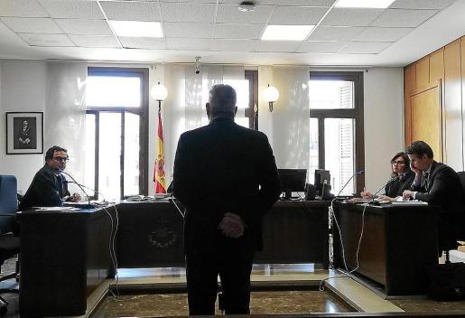 El acusado, este viernes, en la sala de lo Penal número cinco de Palma.