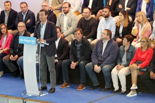 Biel Company, durante la presentación del programa electoral del PP balear.