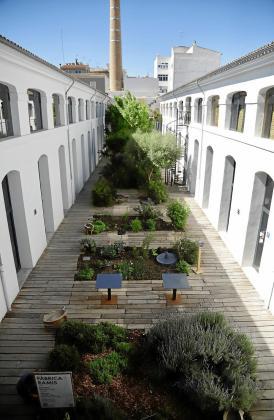 Jardín del patio de Fàbrica Ramis.