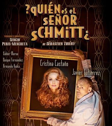 Cartel de la comedia teatral con Javier Gutiérrez y Cristina Castaño en '¿Quién es el señor Schmitt?'.