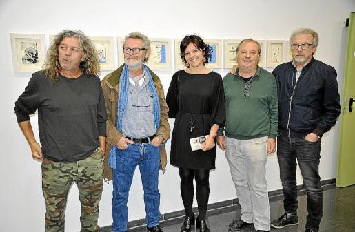 Guillem Nadal, Joan Costa, Paca Florit, Toni Torres y Luis Maraver.