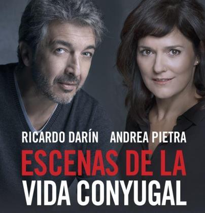 Ricardo Darín y Andrea Pietra, ambos protagonistas de esta comedia dramática.