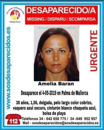Amelia Baran estaba desaparecida en Palma.