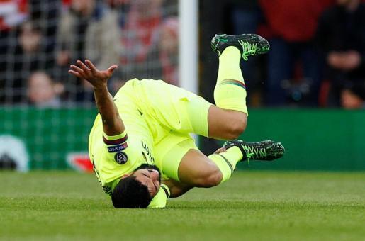 Luis Suarez, en una imagen captada ayer en Anfield