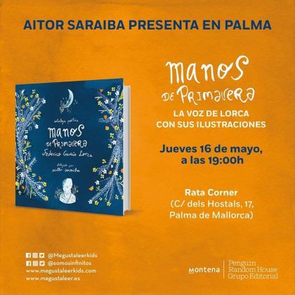 La última obra de Aitor Saraiba, 'Manos de Primavera', se podrá ver en la librería Rata Corner.