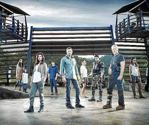 Los protagonistas de esta serie ambientada en el Cretácico.
