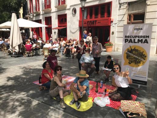 Crida per Palma, en un acto electoral en Plaza de Cort.