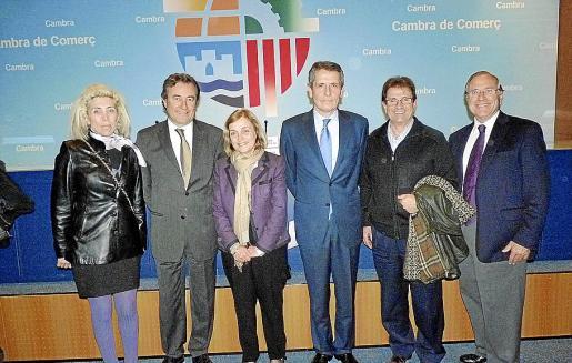 Mª Magdalena Frau, Joan Gual, Montserrat Casas, Andrea Brentan, Llorenç Huguet y Fernando Alzamora.