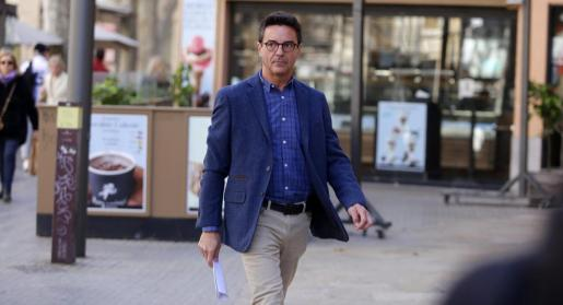 Rodrigo de Santos, el pasado mes de febrero cuando declaró por el caso Over.