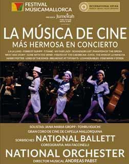 Cartel del concierto del Festival MúsicaMallorca.