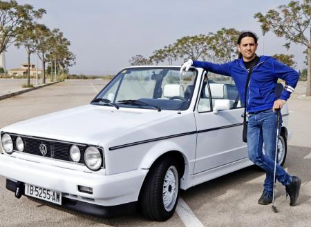 Nicolau Ferrer con su Golf Cabrio GLi