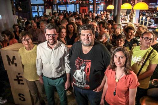 El alcalde de Palma, Antoni Noguera, en el acto de apoyo a la campaña #JoAmbNoguera.