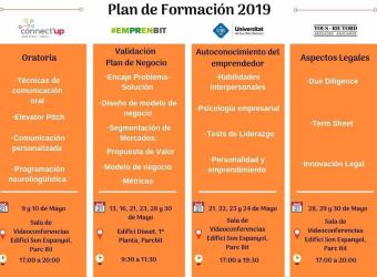 Plan de formación 2019 del concurso de proyectos Connect'Up Start