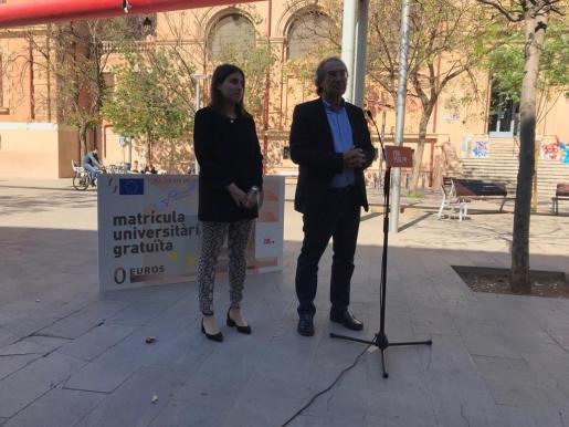 Alicia Homs y Martí March, candidatos del PSIB-PSOE en las elecciones del 26 de mayo.