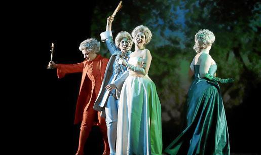 Un momento del ensayo general de este miércoles, en la Sala Gran del Teatre Principal de Palma.